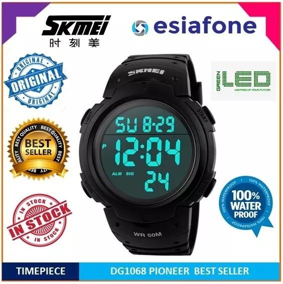 SKMEI DG 1068 Pioneer Sport Watch - Jam Tangan Pria Digital Original - Hitam