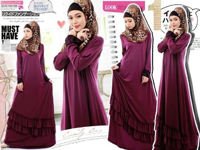 Foto Produk MAXY DRESS WANITA PLUS PASHMINA - Leopard Hijab - SPANDEK STRECTH  dari KPStore Fashion Online