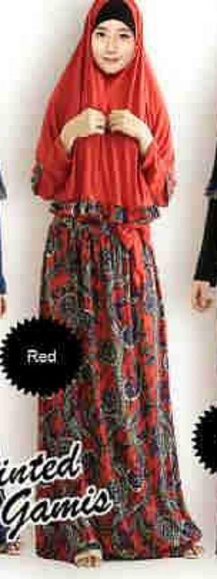 Foto Produk MAXI WANITA CEWEK - MAXY BATIK RIBBON RED - BAJU MUSLIM SYARII  dari KPStore Fashion Online