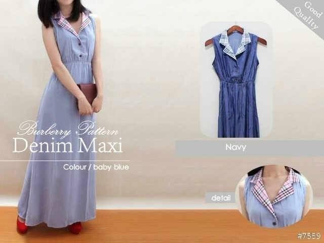 Foto Produk MAXY DRESS WANITA JOYCE DENIM ONLY - SIMPLE CASUAL MURAH BURBERRY dari KPStore Fashion Online