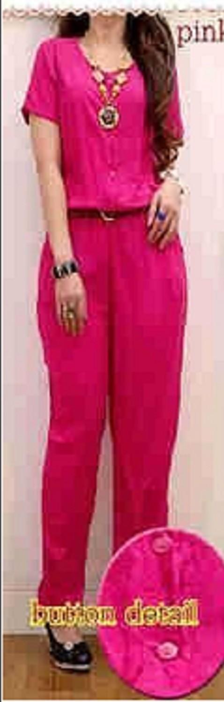 Foto Produk JUMPSUIT WANITA CEWEK BELT - JS RAINBOW PINK - RAYON ADEM SALE dari KPStore Fashion Online