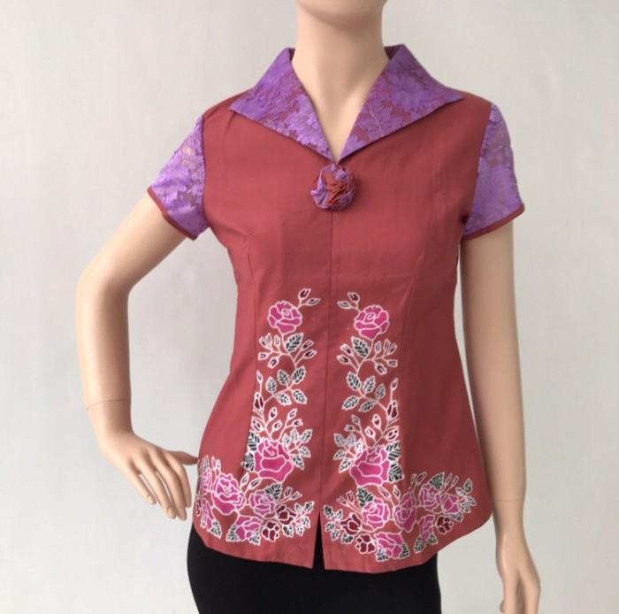 harga Baju atasan batik cap kombinasi katun wanita terbaru murah Tokopedia.com