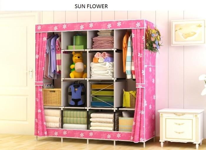 harga Lemari pakaian plastik jumbo wardrobe serbaguna rak buku sunflower Tokopedia.com