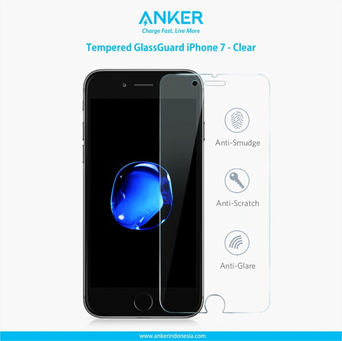 anker tempered glass for iphone 7 clear
