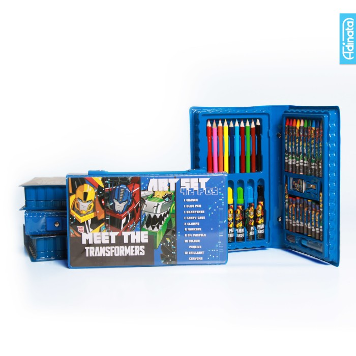 harga Transformer art set 42 pcs adinata / alat mewarnai / crayon Tokopedia.com
