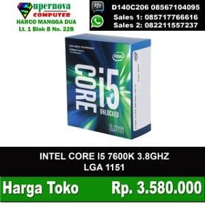 Foto Produk CORE I5 7600K SOCKET 1151 PLUS FAN INTEL dari Supernova Computer Ariet