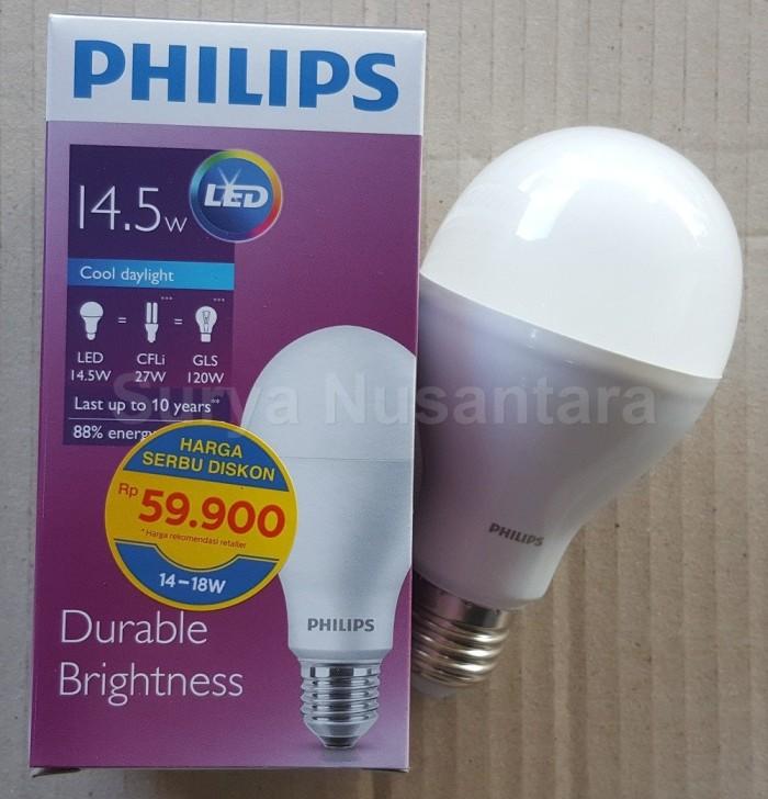 Lampu Led Bulb LedBulb Philips 14,5w 14.5w 14 Watt Bergaransi