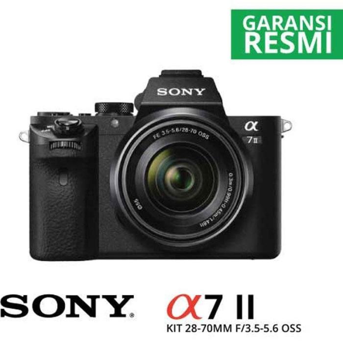 harga Mirrorless camera sony a7 mark ii kit lens fe 28-70mm f/3.5-5.6 oss Tokopedia.com