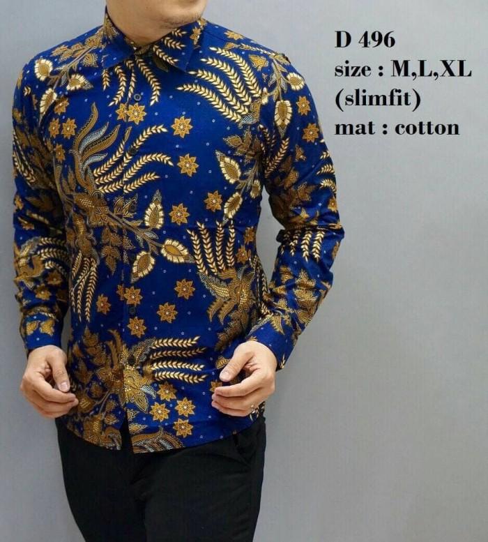 harga Kemeja Batik Pria / Kemeja Batik / Baju Batik / Slim Fit / D496 Blanja.com