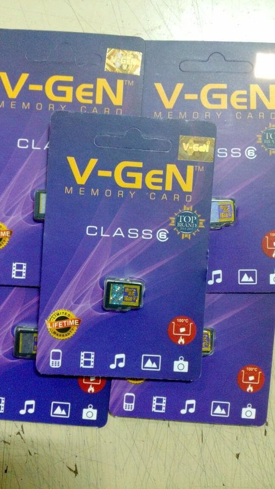 Micro SD merk V-Gen 4gb class 6 non Adaptor