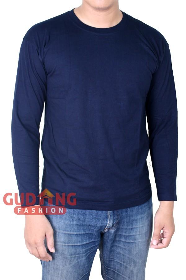 Atasan Kasual Tshirt Polos Panjang Pria PLS 185