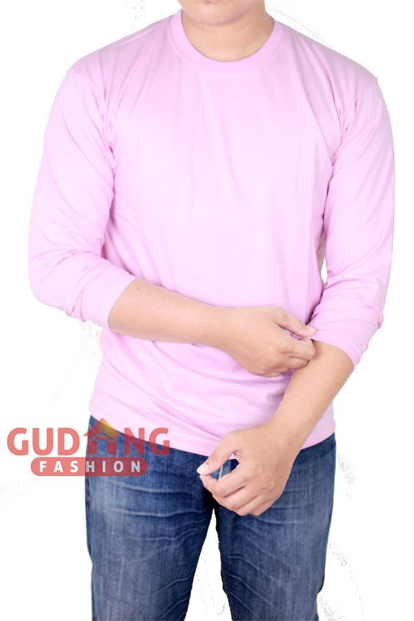 Atasan Kasual Kaos Polos Panjang Pria PLS 184