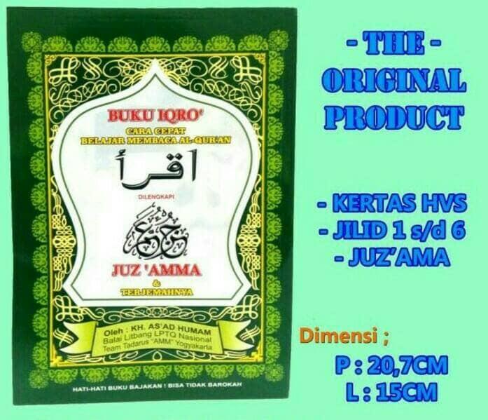 Buku iqro' + juz'amma ( besar ) ...