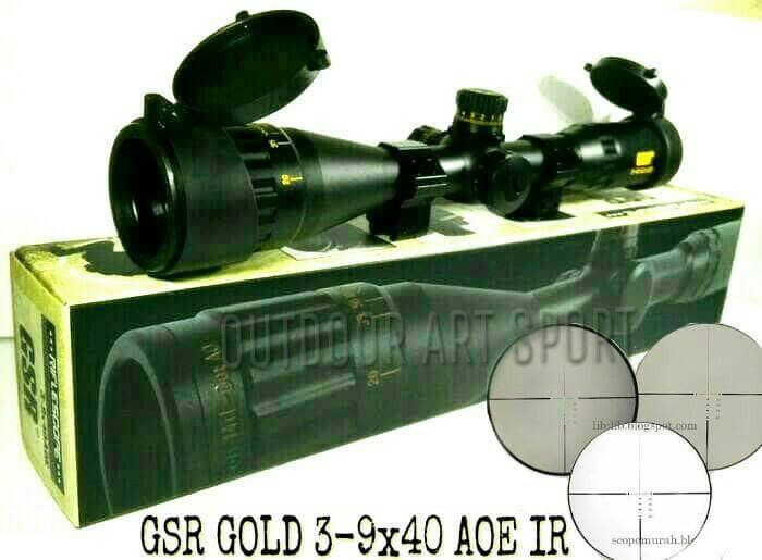 Jual telescope gsr gold 3 9x40 aoe ir scope gsr gold teleskop