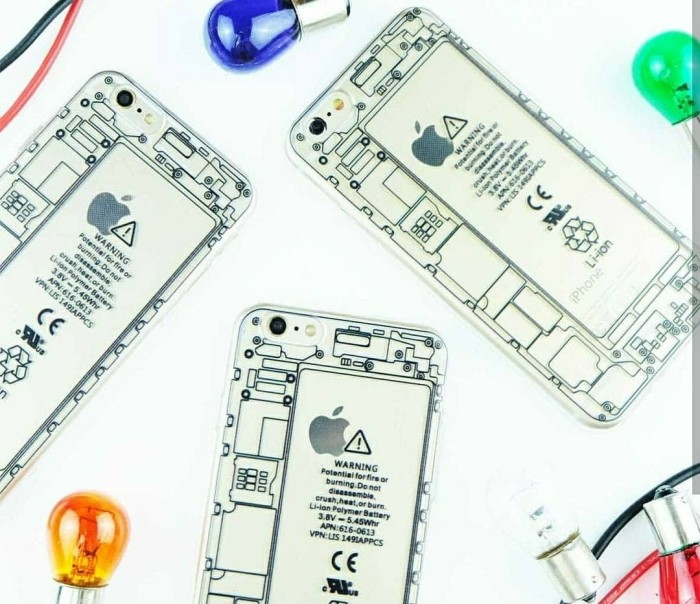 Machine Case Cool Ip Iphone 4 5 6 6+ Plus Softcase Casing Jelly Simple - Blanja.com