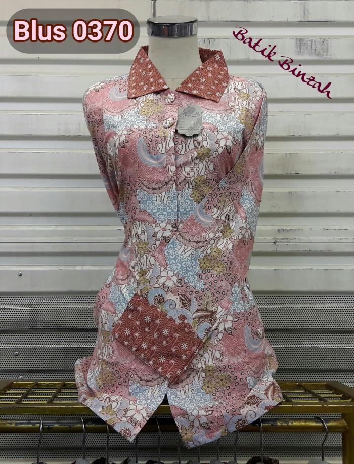 harga Blus batik lengan panjang/batik muslim/batik binzah kode 0370 Tokopedia.com