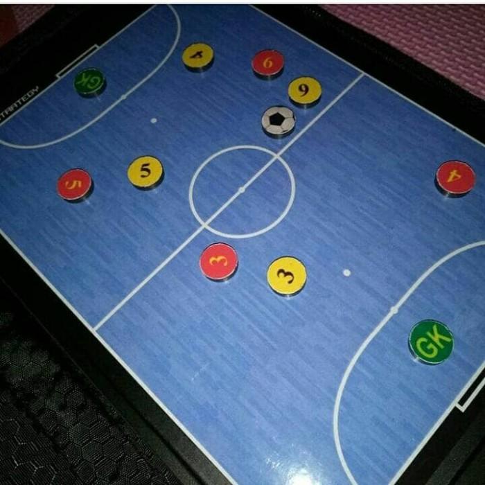 Jual Papan Strategi Futsal Sepak Bola Magnetik Bonus Spidol Dan