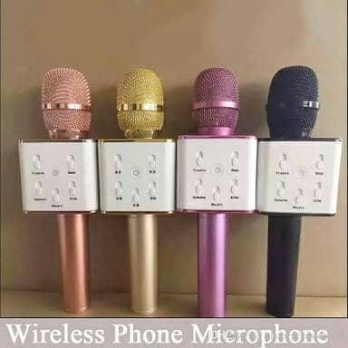 mic karaoke bluetooth q7 tuxun original mic impir mic q9 micgeek kado
