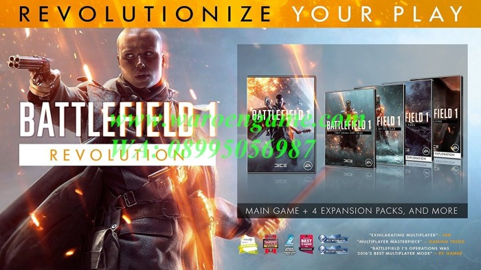 PS4 Battlefield 1 Revolution Edition (R3 / Reg 3 / English, PS 4 Game)