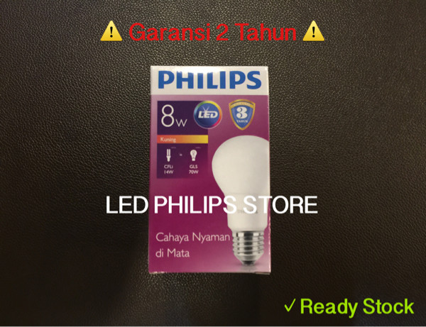 harga Lampu bohlam led philips 9 watt kuning/warm white (9w 9 w 9watt) Tokopedia.com