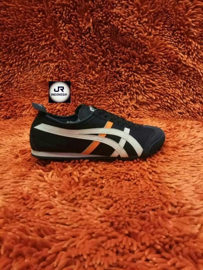 harga Sepatu onitsuka tiger mexico 66 dark white orange grade original 39-43  Tokopedia. 351750f9d5