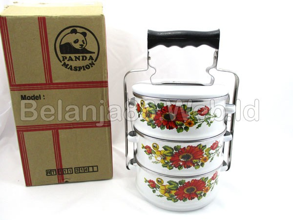 harga Food carrier 3 layer / rantang enamel 3 susun panda maspion 14cm Tokopedia.com