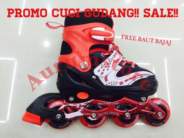 Jual sepatu roda inline skate power merah cek harga di PriceArea.com c62d625a75