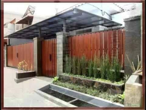 jual pagar rumah minimalis motif kayu - kota bekasi - jasa