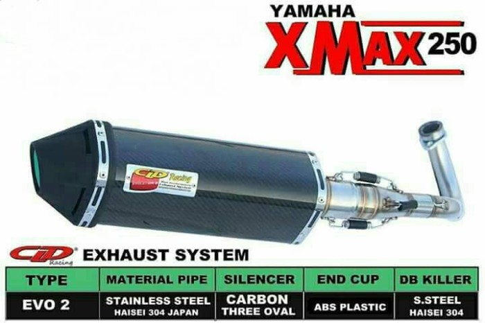 harga Knalpot xmax 250 cld evo 2 carbon Tokopedia.com