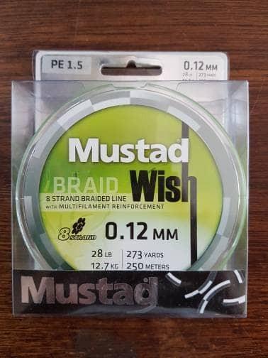 harga Pe mustad wish braid x8 - 28 lb - 250m Tokopedia.com
