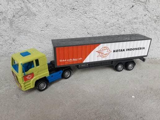 harga Mainan truk kontainer - mobil trailer anak edukatif - edukasi Tokopedia.com