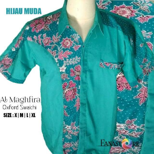 Harga Batik Nusantara Kemeja Batik Pria Lengan Pendek Blue Harga Rp