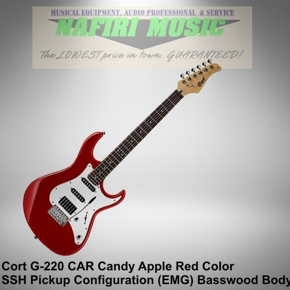 harga Cort g220-car / cort g220 car baswood body candy apple red hss emg pu Tokopedia.com