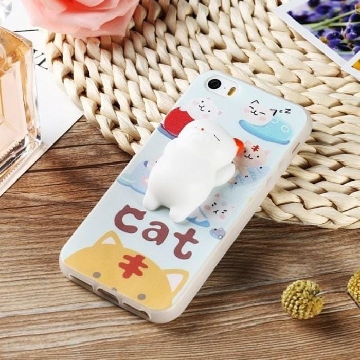IPHONE 7 PLUS SOFT SILICONE CASE CASING MULTI CUTE CAT SQUISHY TPU