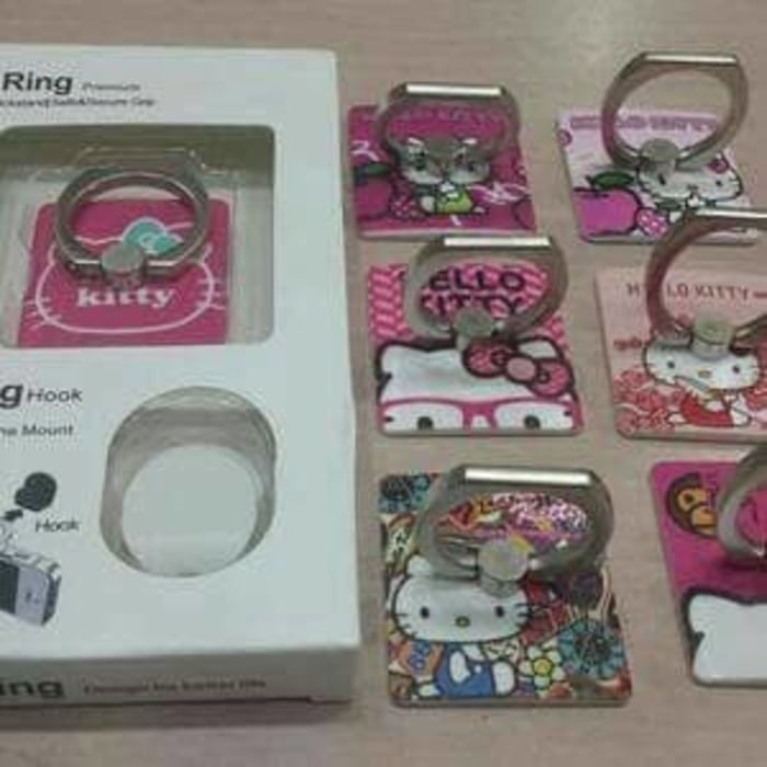 7f26ad78a Jual Hello Kitty iRing/ Ring Holder/ Cincin HP / Ring Stand Karakter ...