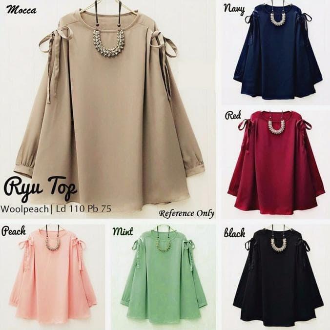 Atasan Wanita Ryu Top Blouse Tunik Baju Muslim Blus Muslim KSH90
