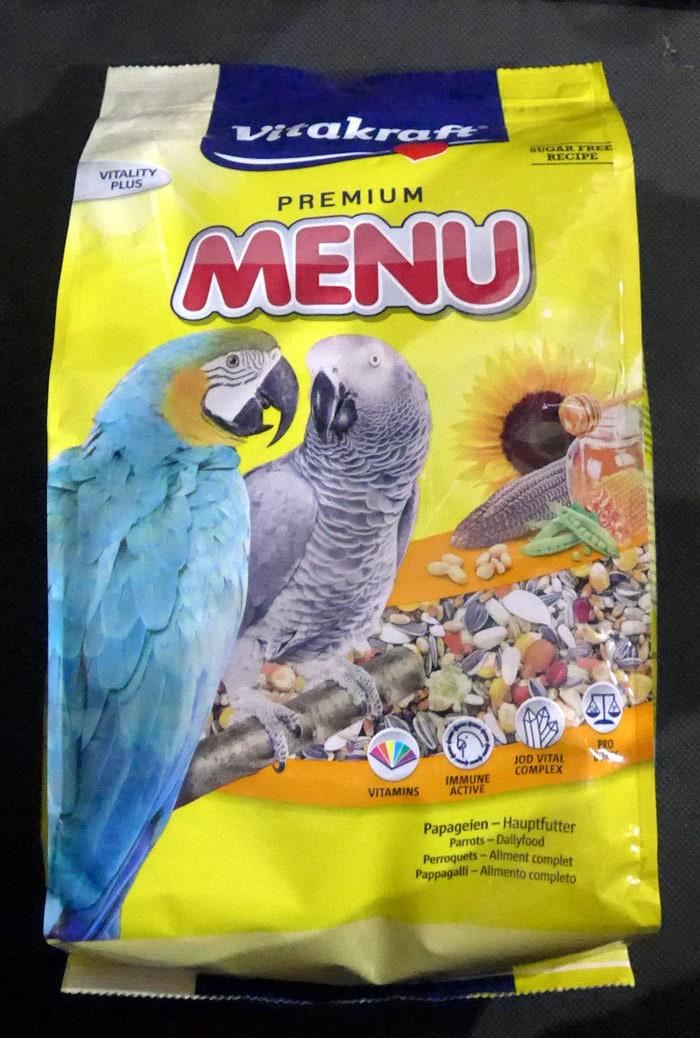 harga Makanan burung parrots nuri beo macaw - vitakraft premium menu 3kg Tokopedia.com