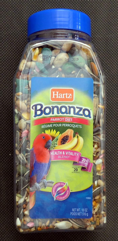 harga Makanan burung parrot nuri beo macaw - hartz bonanza parrot diet 510g Tokopedia.com