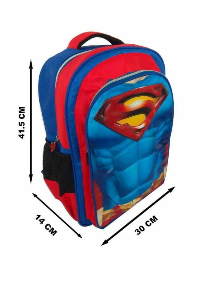 Jual Tas ransel EMBOS Model SUPERMAN sekolah anak SD 3D import ... ec1d160668