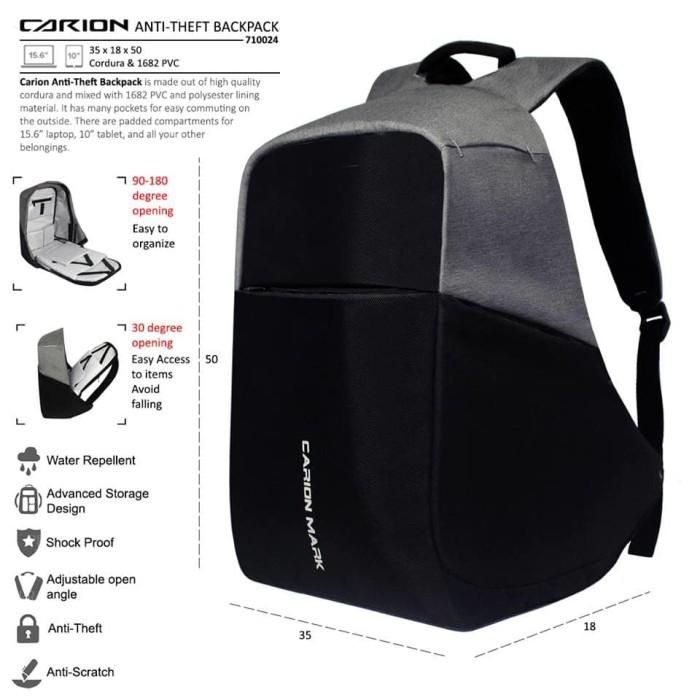 Tas Anti Maling - Anti Theft Backpack - Tas Ransel USB Port Charger