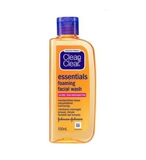 harga Clean and clear essential foaming facial wash 100 ml Tokopedia.com
