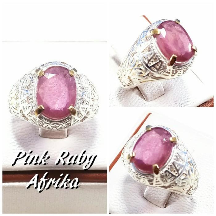 harga Cincin batu akik permata natural cutting pink ruby afrika kristal Tokopedia.com