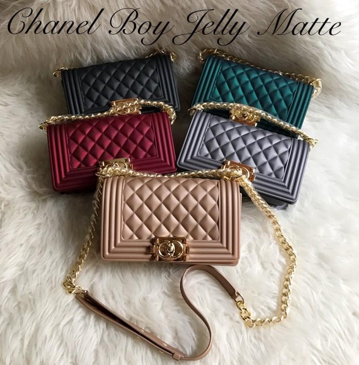 Jual Tas Wanita Chanel Boy Maxi Jelly Matte impor 25cm - kimi kimi ... fad383111f