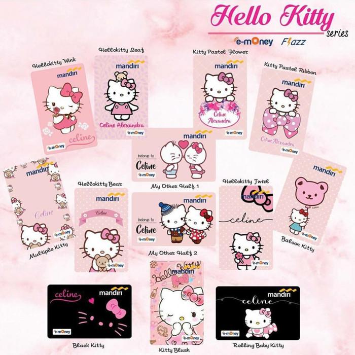 harga Custom card emoney & flazz hello kitty Tokopedia.com