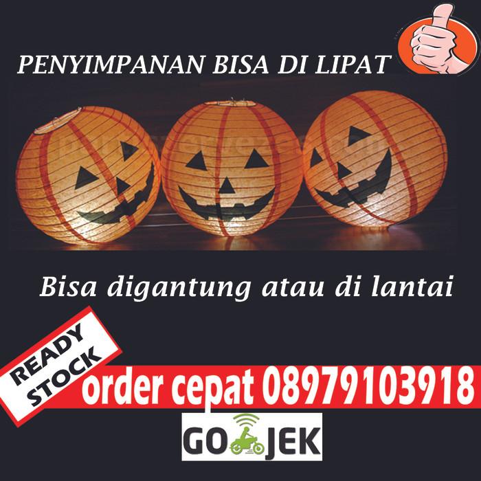 harga Jual labu halloween lampion jack o dekorasi pumpkin pesta jakarta Tokopedia.com