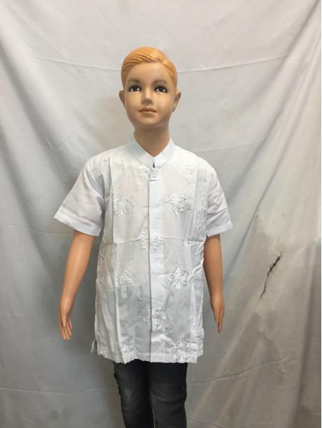 baju koko anak putih g03