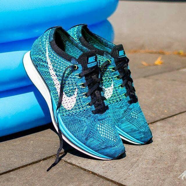 best service 683fa 58769 Sepatu Nike Flyknit Racer Blue Cactus KODE SS10242