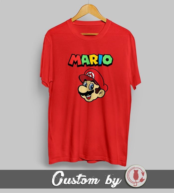 harga Baju kaos kartun super mario bros 004 dtg printing Tokopedia.com