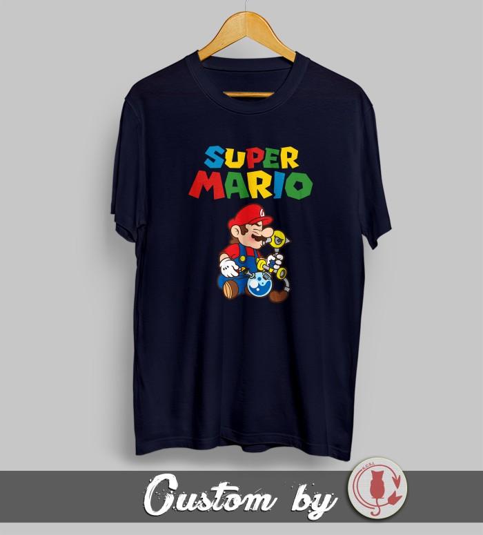 harga Baju kaos kartun super mario bros 002 dtg printing Tokopedia.com