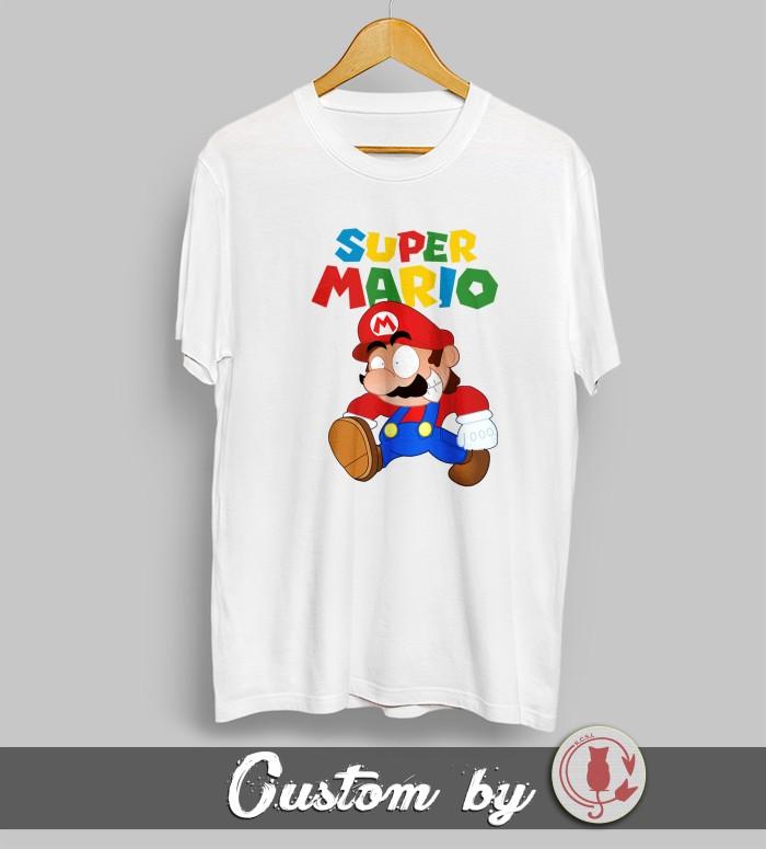 harga Baju kaos kartun super mario bros 005 dtg printing Tokopedia.com